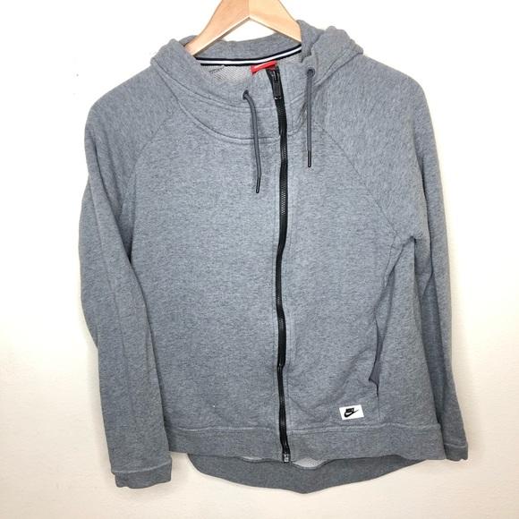 Nike Sweaters - Nike zip up thick  hoodie Medium